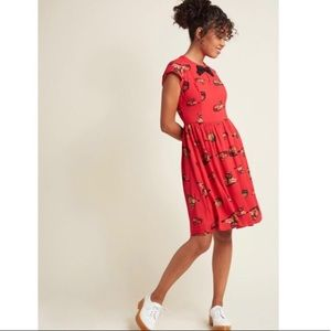 MOD CLOTH / Kitties + Bow Dress
